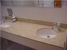 Marble Bathroom Vanity Top, Yellow Marble
