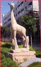 Brown Marble Giraffe Sculpture