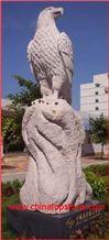 Granite Eagle Sculpture, Grey Granite Sculpture