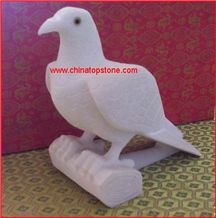White Marble Stone Pigeon