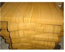 Yellow Wooden Sandstone French Pattern Slabs & Tiles, Sichuan Yellow Sandstone Slabs & Tiles