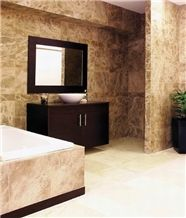 Monaco Brown Marble Bathroom Design