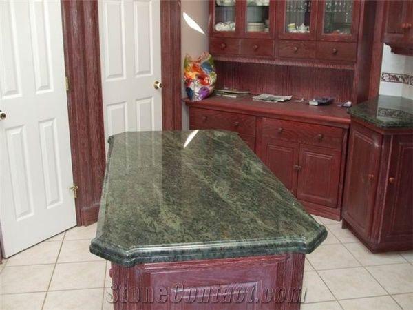 Ordinaire Tropical Green Granite Counter Tops