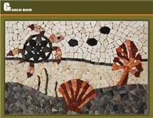 Natural Stone Mosaic Panel Picture,Sea World