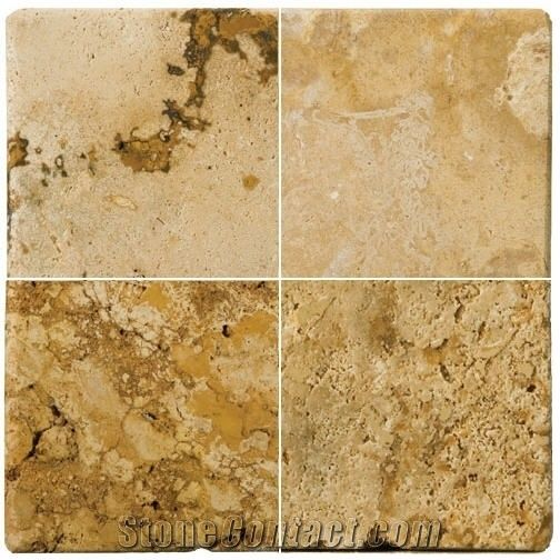 Travertine Oro Taco Slabs Tiles from New Zealand