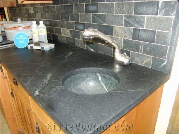 Undermount Bowl Sink in Brazilian Soapstone, Undermount ...