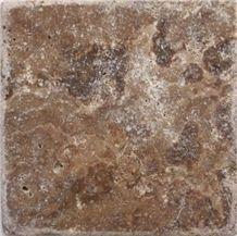 Iran Chocolate Travertine Tiles, Iran Brown Travertine