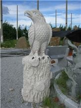 White Granite Carving Eagle,Animal Sculptured