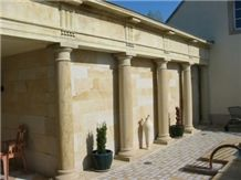 Pierre De Jaumont Limestone Facade, Columns, Building Ornaments