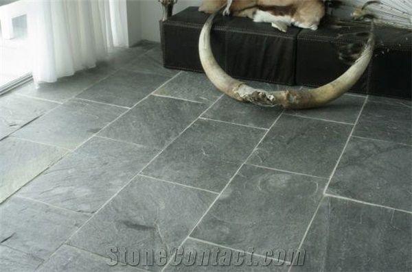 Silver Grey Slate Floor Tile India