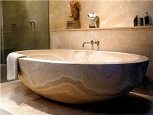 Giallo Antico Yellow Marble Bath Tub