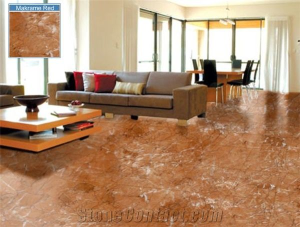 Makrame Red Marble Flooring Tile From