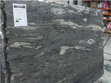 Matrix Nevada Granite Brushed Slabs & Tiles, Brazil Black Granite