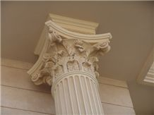 Beige Marble Columns - Egyptian Marble Supplier
