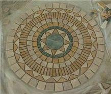 Travertine Mosaic Medallion