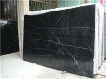 Nero Marquina Black Marble Slabs