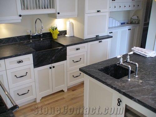 Black Soapstone Kitchen Countertops