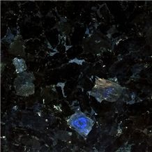 Volga Blue Granite Slabs & Tiles, Ukraine Blue Granite
