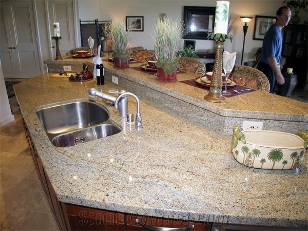 Kashmir Gold Granite Kitchen Countertop From China 61588