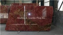 Royal Red Marble Slabs, Red Marble Floor Covering Tiles Polished Iran