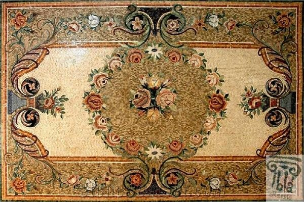 Carpet Rug Mosaic Marble Floor Inlay From Syria