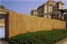 Sandstone Carved Wall Cladding Embossment