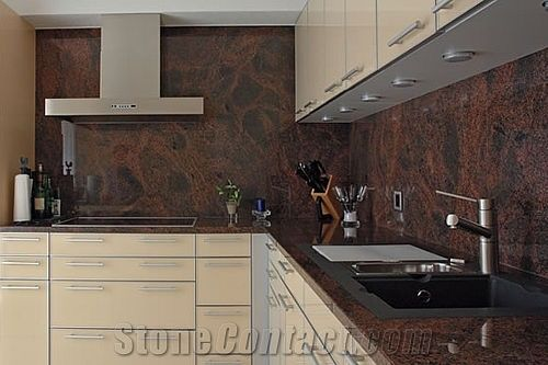 Multicolor Red Granite Countertop From Switzerland 63047