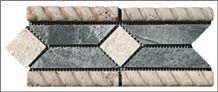 Travertine Listellos Mosaic Border