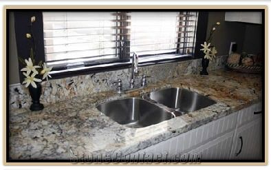 Exotic Granite Countertops Antique Persa Gold Yellow