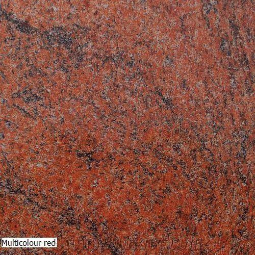 Multi Colour Red Granite Slabs Tiles Multicolor Red