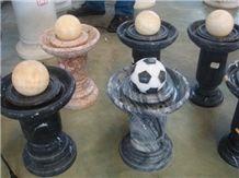 Black Marble Fountain