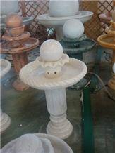 Snow White Marble Fountain