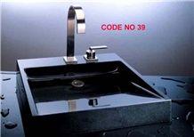 Black Granite Square Sinks,Wash Basins