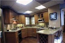Kitchen Granite Countertop, Design, Giallo Santa Cecilia Yellow Granite Kitchen Design