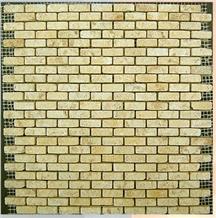 Gold Travertine Mosaic