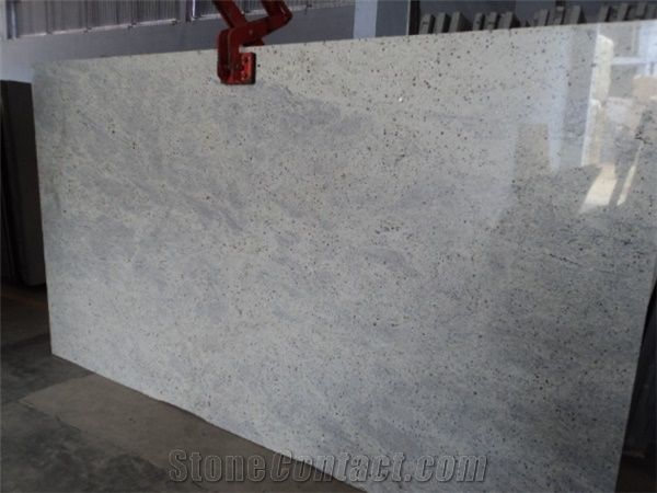 Kashmir White Granite Slabs Tiles Polished Granite Floor Tiles