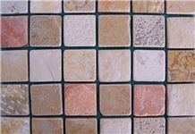 Biblical Mosaics, Castel Rose Pink Limestone