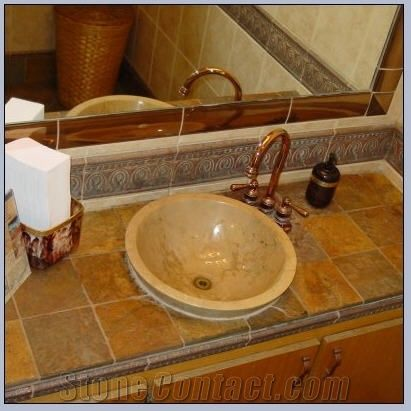 Rust Slate Tile Vanity Top From United States