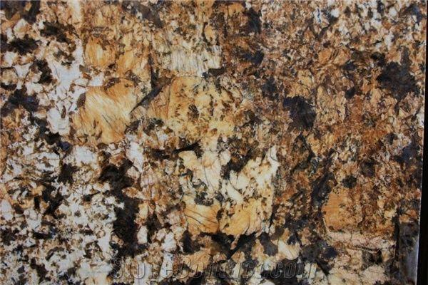 Mascarello Granite Slabs Tiles Brazil Yellow Granite From