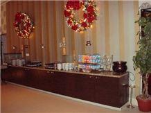 Giallo Santa Cecilia Granite Buffet Countertop
