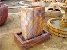 Jaipur Rainbow Sandstone Fountain
