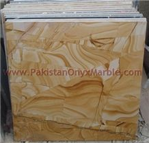 Teak Wood Marble Tiles, Pakistan Yellow Marble