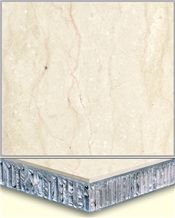 Beige Marble Laminated Panel,Honeycomb