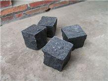 G654 Dark Gray Granite Cube Stone