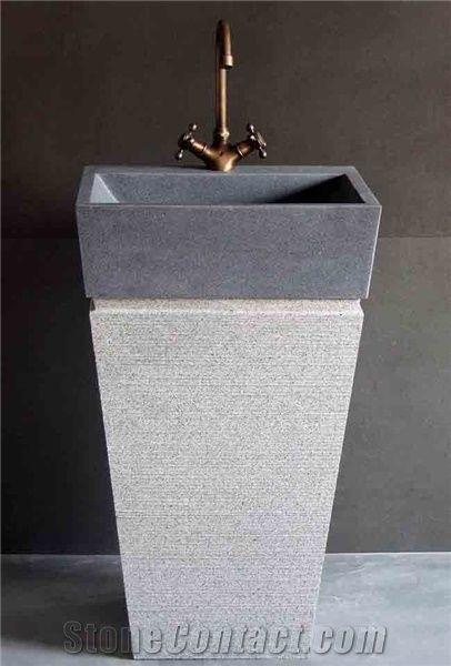 Lava Stone China Pedestal Sink Stonecontact Com