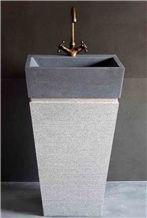 Lava Stone China Pedestal Sink
