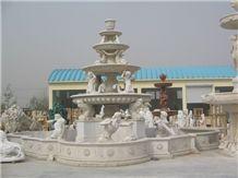 Shangrila White Marble Fountain