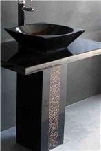 Shanxi Black Pedestal Sink