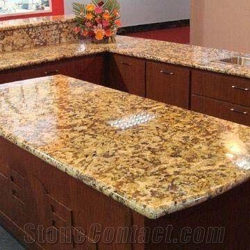 Giallo Fiorito Granite Countertops Yellow