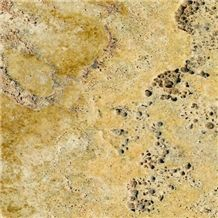 Golden Sienna Antiqued Travertine Slabs & Tiles